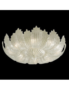 art. 1087 Ceiling lamp in murano glass grit crystal