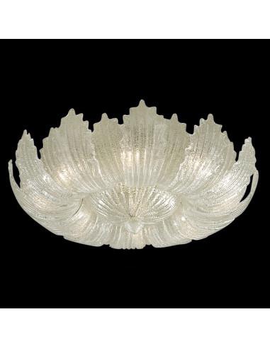 art. 1087 Plafoniera in vetro di murano graniglia cristallo