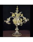 lampada da tavolo in vetro di murano modello Ca'Venier flambeau