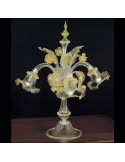 Lampe en verre de Murano cristal or modèle Ca'Venier Flambeau