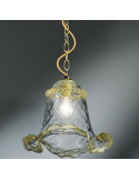 suspension in murano glass crystal gold calle model