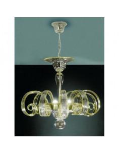 Suspension en verre de cristal de Murano avec fils colorés, modèle Longhena