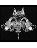 applique in vetro di murano cristallo modello ninfa