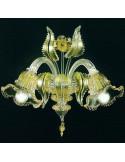 applique di murano modello ninfa oro