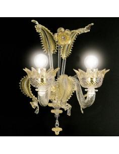applique classica in vetro di Murano modello Casanova