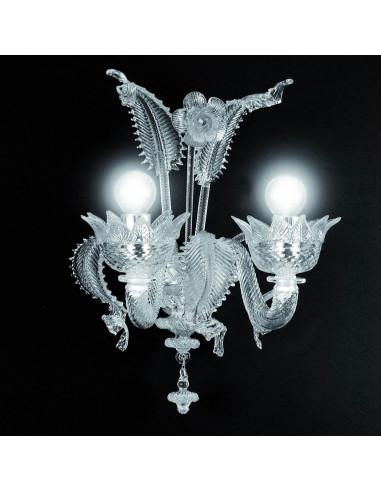 applique classique en verre de Murano modèle Muranese