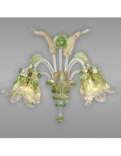 applique classica in vetro di Murano modello Vivaldi