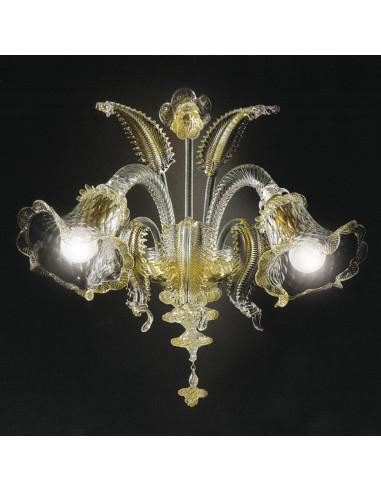 applique murales en verre de Murano doré modèle Ca'Venier
