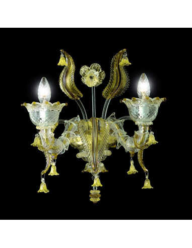 applique classica in vetro di Murano modello Veronese