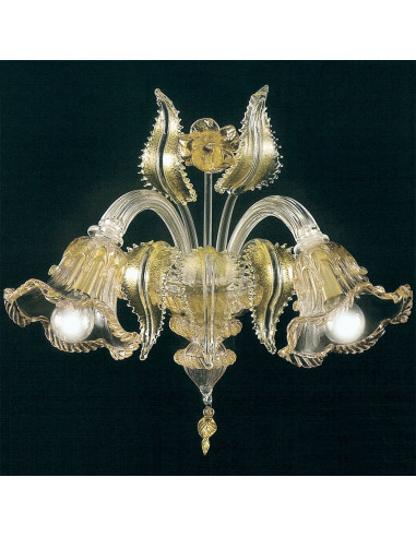 applique in murano glass ninfa model gold