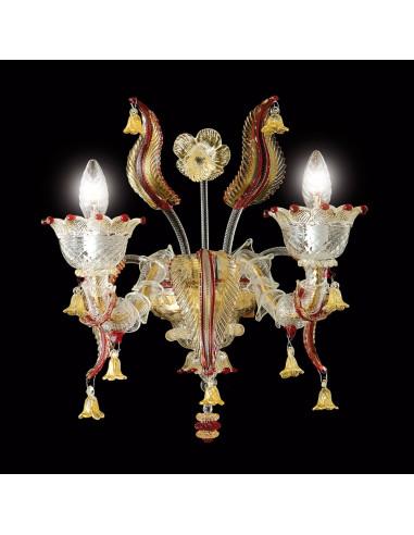 applique classica in vetro di Murano modello Visconti