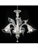 Lampadario classico in vetro di murano modello Tiziano