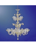lustre en verre de Murano classique modèle Casanova