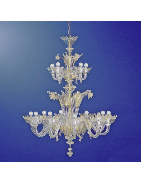 classic Murano glass chandelier model Casanova