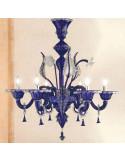 lampadario di murano classico modello gran canal lux colorato
