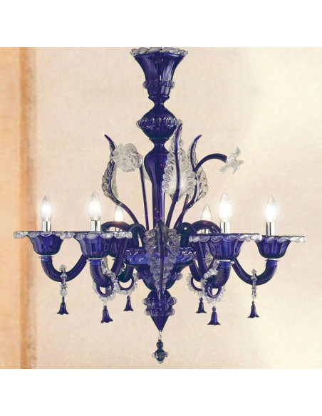 classic murano chandelier model grand canal lux colorful