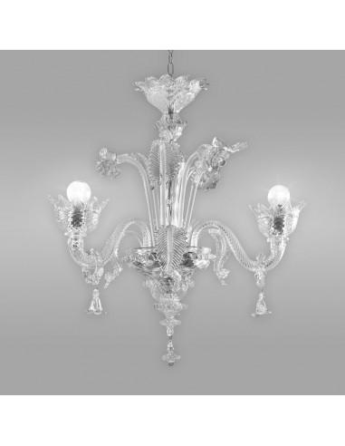 Lampadario classico ed elegante in vetro di Murano modello Imperiale
