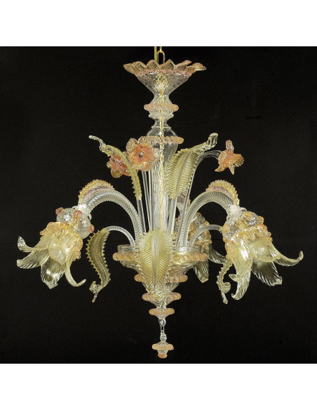 Classic chandelier with baroque lines, Vivaldi model