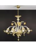 lampadario in vetro di murano oro modello ca venier
