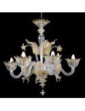 gold murano glass chandelier muranese model