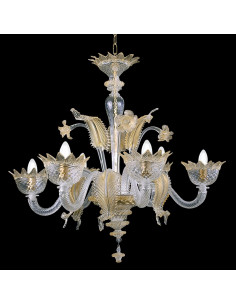 gold murano glass chandelier muranese model