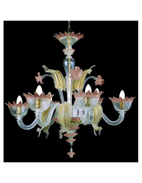 amethyst rose gold murano glass chandelier muranese model