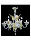 lustre en verre de murano doré modèle murananese
