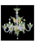 lampadario in vetro di murano oro modello muranese
