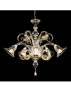 Murano glass chandelier Tintoretto model