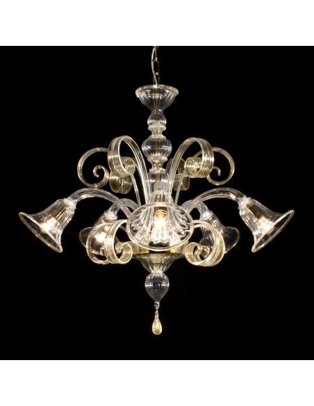 Murano glass chandelier Tintoretto model