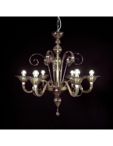 Giorgione colored Murano glass chandelier