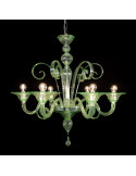 Giorgione colored Murano glass chandelier