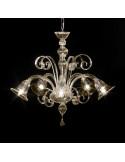 lampadario in vetro di Murano modello Gentile