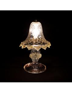 lampada da tavolo in vetro di murano modello Casanova
