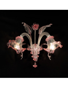 crystal murano glass wall lamp model ca 'venier