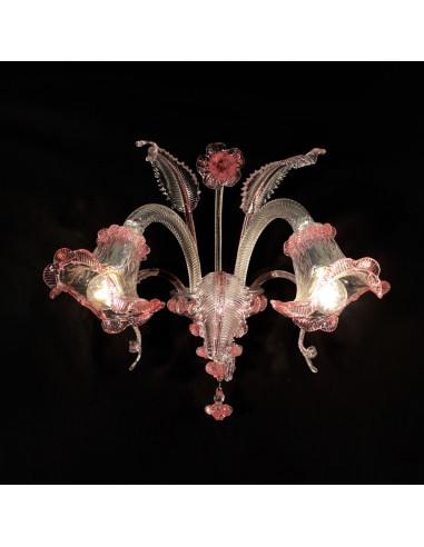 crystal murano glass wall lamp model ca 'venier