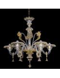 Lustre classique en verre de Murano modèle Gran Canal Lux