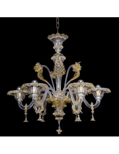 Lampadario in vetro di Murano classico modello Gran Canal Lux