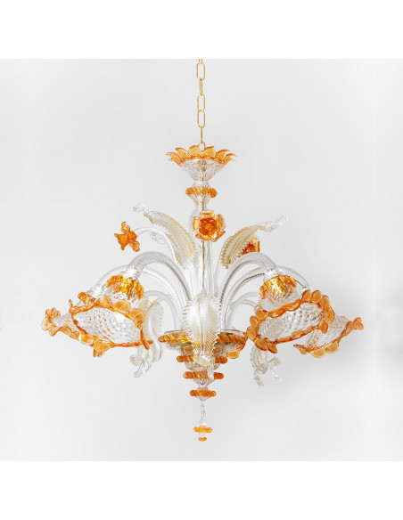 Murano glass chandelier in Gold model Ca Venier