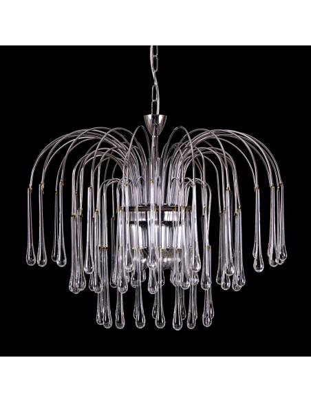 "Suspension Lamp - ""Silver Threads"""