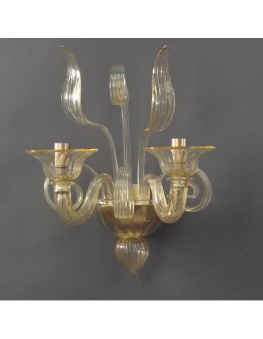 Appliques de Murano ambre modèle de l'Orchestre