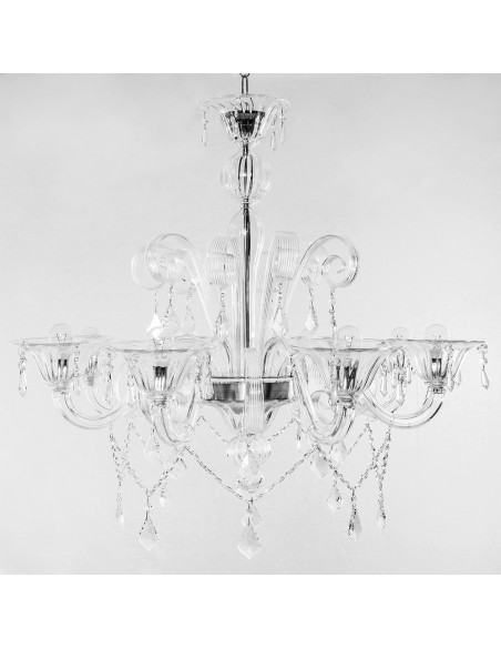 Murano chandelier with strass mod: High Water