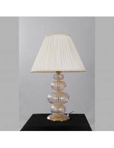 Lampada oro e bianca in vetro di Murano mod: Orchidea