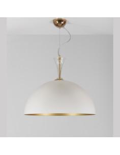 Lampadario a sospensione in metallo con dettagli in vetro di murano mod: Metal Suspension