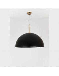 Lampadario a sospensione in metallo nero e bianco con dettagli in vetro di murano mod: Metal Suspension