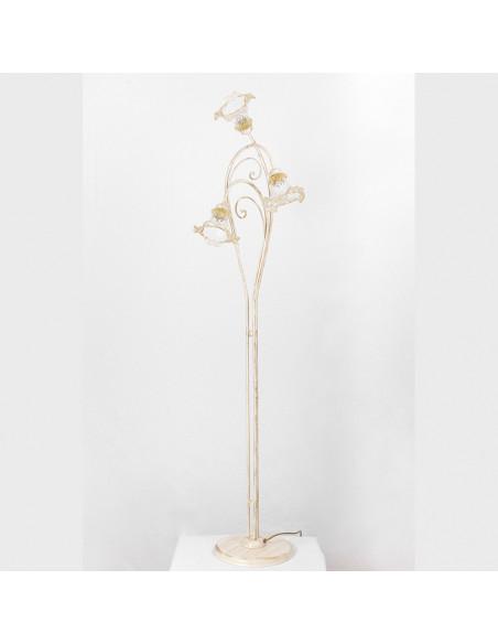 Floor lamp in Murano glass, mod: Ca Venier