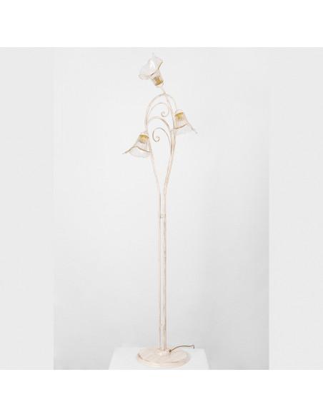 Floor lamp in Murano glass, mod: Manunzio
