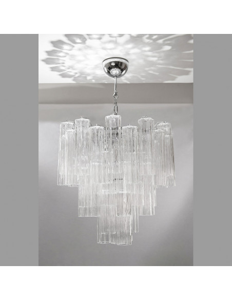 Chandelier pendant in Murano glass, mod: Stella Polare