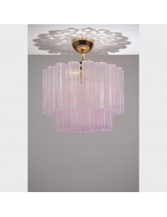Ceiling lamp in Murano glass, mod: Polar Star