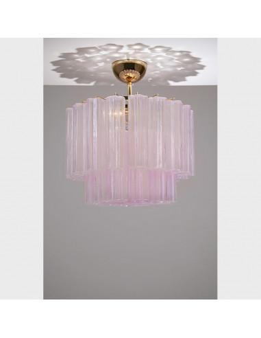 Plafoniera in vetro di Murano mod: Stella Polare